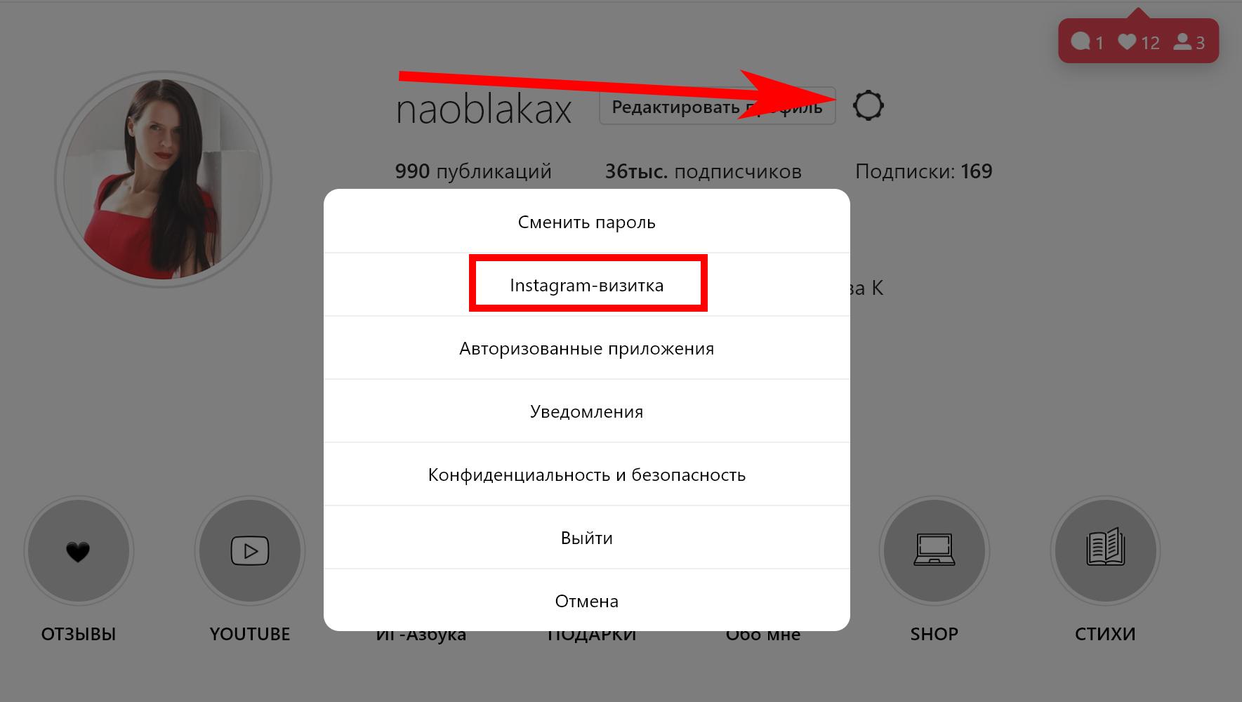 что такое инстаграм визитка |naoblakax.ru